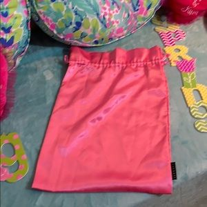 FREE* Pink satiny feel Sephora drawstring bag